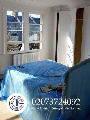 A painting job completed in West Brompton